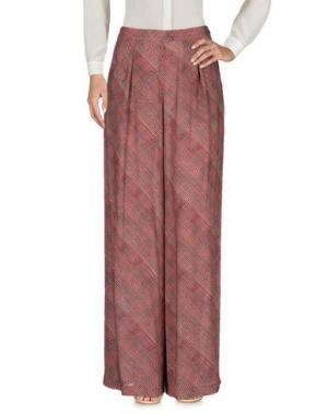 Повседневные брюки KRISTINA TI. Цвет: красный