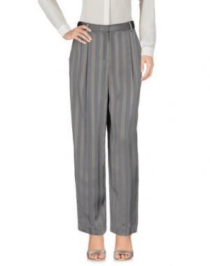 Повседневные брюки THE ROW. Цвет: серый