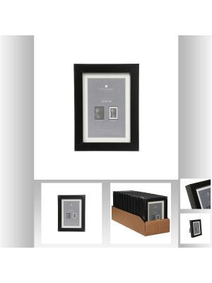 Рамка для фото 13х18 см, цвет черный JJA. Цвет: черный