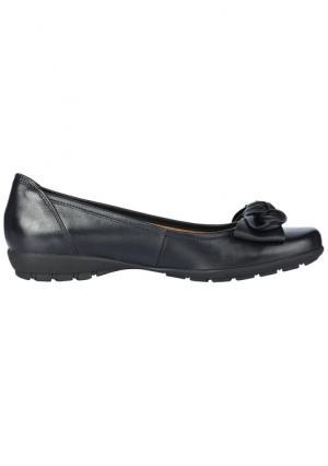 Туфли-балетки GABOR. Цвет: серо-коричневый, темно-синий, черный