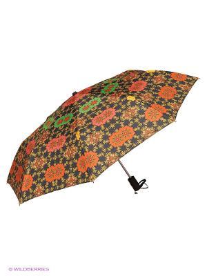 Зонт Slava Zaitsev. Цвет: черный, коралловый