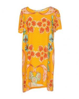 Короткое платье EMAMÒ. Цвет: оранжевый