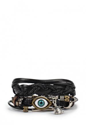 Комплект браслетов Joubeejou. Цвет: черный
