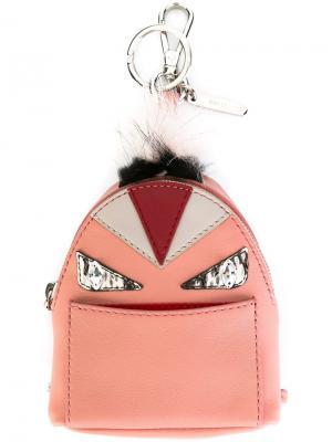 Брелок в виде рюкзак Bag Bugs Fendi. Цвет: розовый и фиолетовый