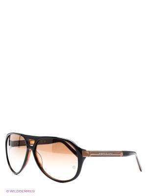Солнцезащитные очки Montblanc. Цвет: черный, коричневый