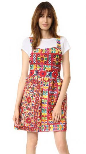 Платье-комбинезон Jaipur All Things Mochi. Цвет: белый/мульти