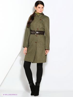 Пальто Gamelia. Цвет: хаки, зеленый