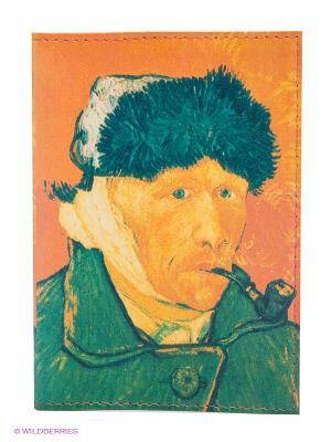 Обложка для паспорта Mitya Veselkov. Цвет: оранжевый, зеленый