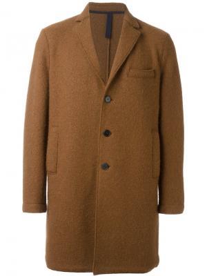 Однобортное пальто Harris Wharf London. Цвет: коричневый
