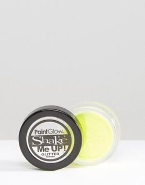 Beauty Extras Шейкер с флуоресцентными блестками PaintGlow Shake Me Up. Цвет: желтый