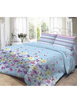 Комплект постельного белья, Аделия Волшебная ночь. Цвет: бирюзовый
