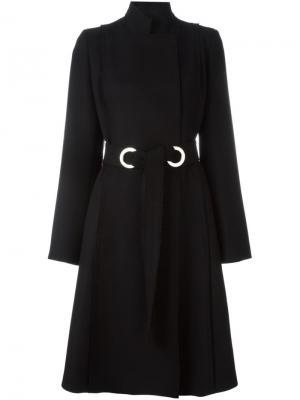 Пальто с поясом Proenza Schouler. Цвет: чёрный