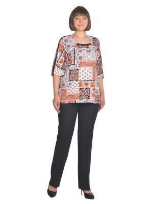 Блузка Томилочка Мода ТМ. Цвет: светло-оранжевый