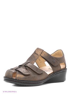 Туфли ортопедические Finn Comfort. Цвет: бронзовый
