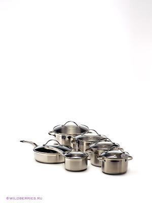 Набор посуды Winner. Цвет: серебристый