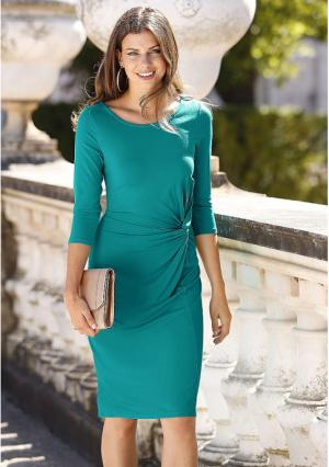 Платье MY STYLE. Цвет: изумрудный