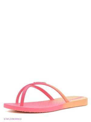 Шлепанцы Ipanema. Цвет: оранжевый, розовый