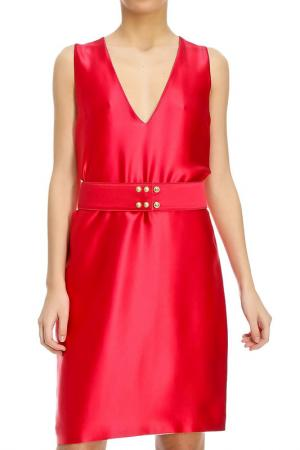 Платье Fausto Puglisi. Цвет: красный