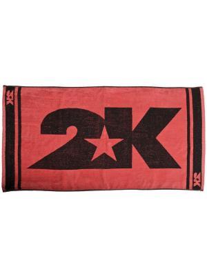 Полотенце махровое 2K. Цвет: красный, черный