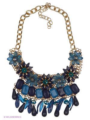 Колье by LA STRASA. Цвет: синий, золотистый, серый, голубой