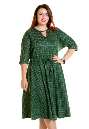 Платье Luxury Plus. Цвет: зеленый