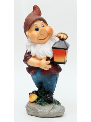 Декоративная фигурка Гном с фонарем Magic Home. Цвет: белый