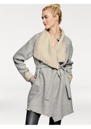 Пальто B.C. BEST CONNECTIONS. Цвет: серый/серо-коричневый
