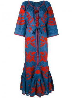 Платье с цветочным узором Vita Kin. Цвет: синий