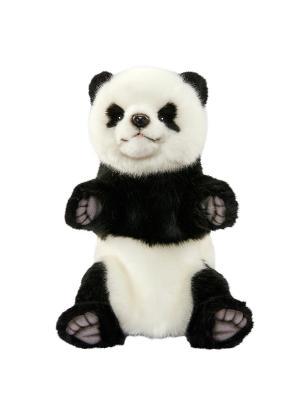 Панда, игрушка на руку Hansa. Цвет: черный, белый
