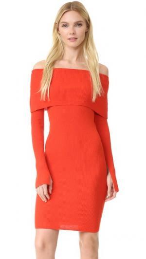 Платье с длинными рукавами Edition10. Цвет: красный