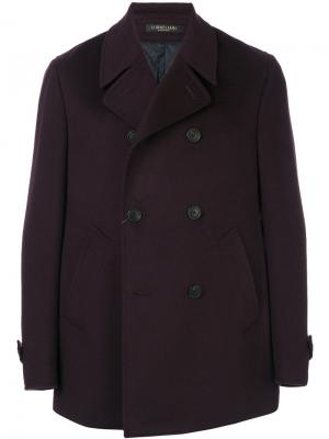 Double-breasted short coat Corneliani. Цвет: красный