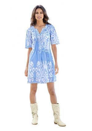 Платье B.C. BEST CONNECTIONS. Цвет: голубой/белый, песочный/белый