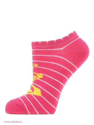 Носки - 3 пары ROXY. Цвет: бледно-розовый, красный, розовый