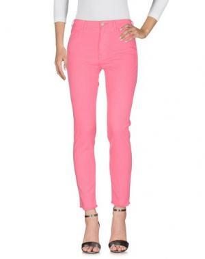 Джинсовые брюки CYCLE. Цвет: розовый