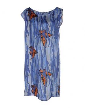 Короткое платье CLIÓ. Цвет: грифельно-синий