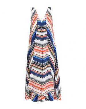 Платье длиной 3/4 EDUN. Цвет: синий