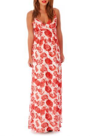 Платье Mela london. Цвет: white and red