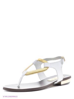 Сандалии El Tempo. Цвет: белый, золотистый