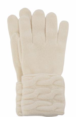 Вязаные перчатки из кашемира Kashja` Cashmere. Цвет: белый