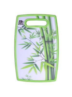 Доска разделочная пластик с 3D-эффектом, 20*30 см BAYERHOFF. Цвет: зеленый