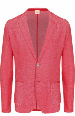 Хлопковый однобортный пиджак Sartoria Latorre. Цвет: красный