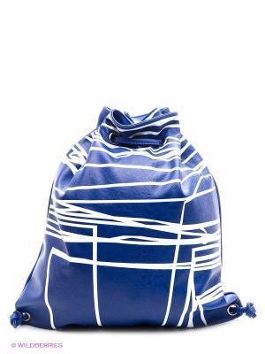 Сумка Sisley. Цвет: синий, белый