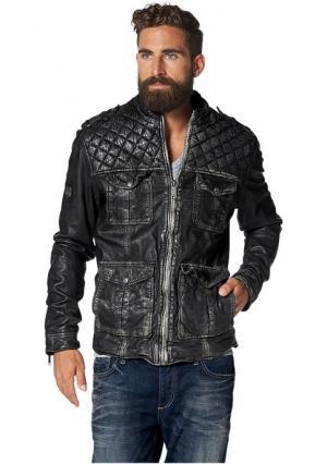 Кожаная куртка Rockinham Maze. Цвет: темно-серый