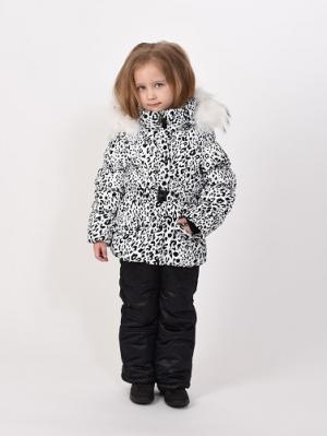 Куртка+полукомбинезон TOPKLAER. Цвет: белый, черный