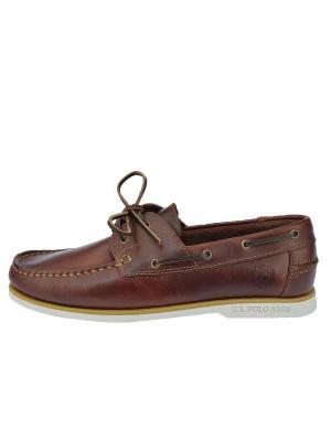 Топсайдеры U.S. Polo Assn.. Цвет: коричневый