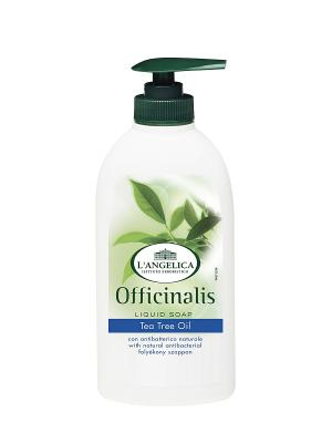 Жидкое мыло АНТИБАКТЕРИАЛЬНОЕ с экстрактом мелалеука 300 мл L'Angelica. Цвет: белый