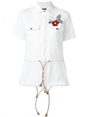 Декорированная рубашка Dsquared2. Цвет: белый
