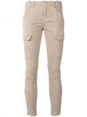 Зауженные брюки-карго J Brand. Цвет: телесный