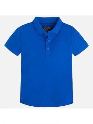 Футболка-поло Mayoral. Цвет: синий