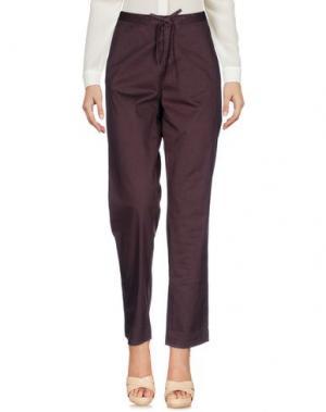 Повседневные брюки ZHELDA. Цвет: баклажанный
